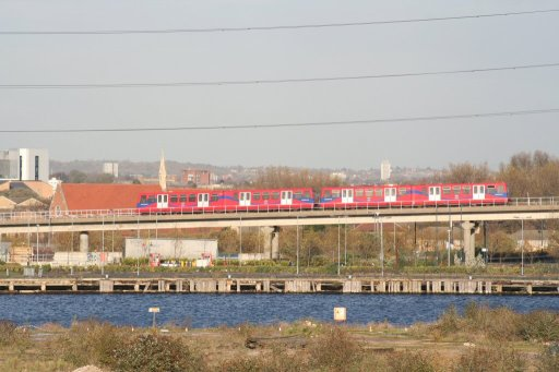 Docklands Light Railway beckton route at between Prince Regent and Royal Albert