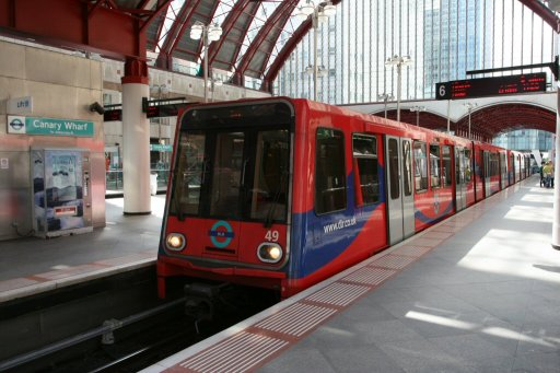 Docklands Light Railway unit 49 at Canary Wharf station