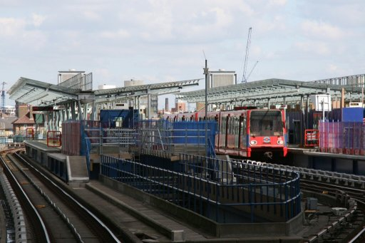 Docklands Light Railway unit West India Quay at West India Quay station