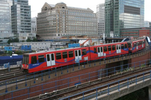 Docklands Light Railway unit 10 at Poplar
