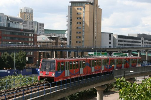 Docklands Light Railway unit 45 at Poplar