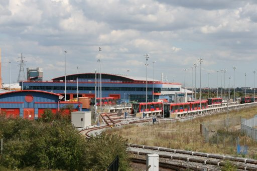 Docklands Light Railway Beckton depot