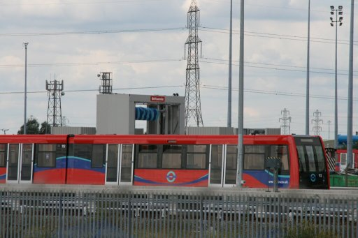 Docklands Light Railway unit 112 at Beckton depot