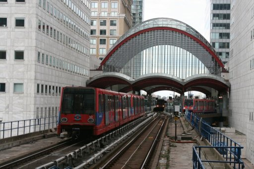 Docklands Light Railway unit 50 at Canary Wharf station