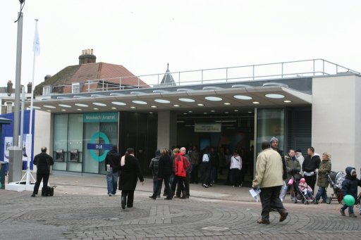 Docklands Light Railway station at Woolwich Arsenal
