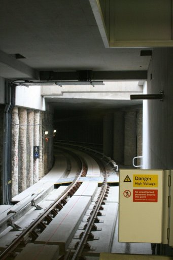 Docklands Light Railway lcy at Woolwich Arsenal station