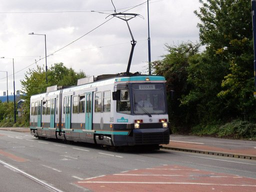 Metrolink tram 2003 at South Langworthy Road