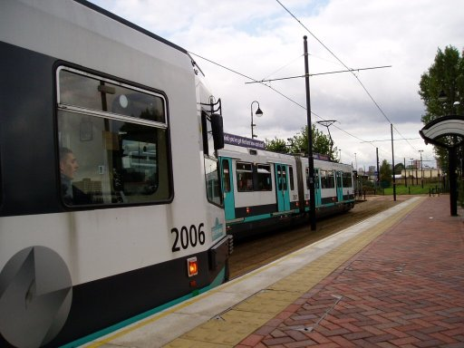 Metrolink tram 2006 at Exchange Quay stop