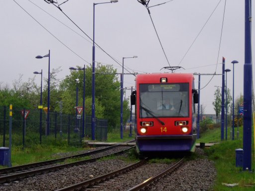 Midland Metro tram 14 at near Priestfield