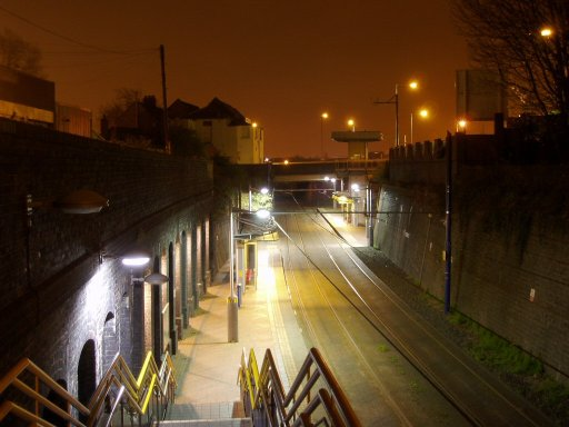 Midland Metro tram stop at Bilston Central