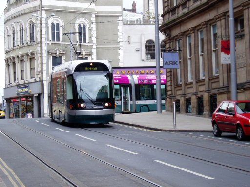 Nottingham Express Transit tram 208 at Lace Market