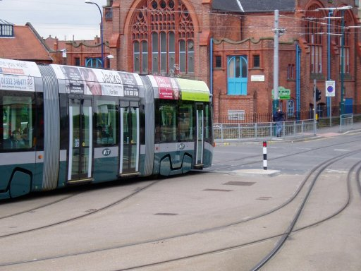 Nottingham Express Transit tram 210 at The Forest stop