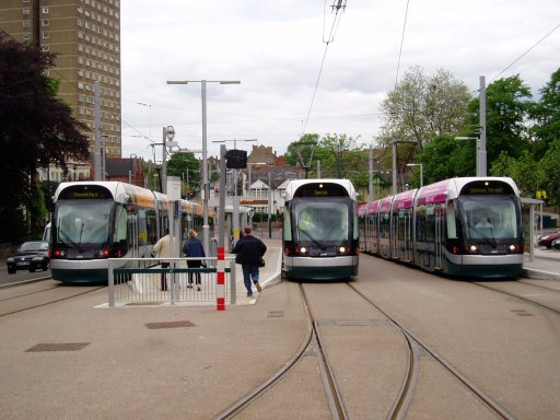 Nottingham Express Transit tram TLRS tour at The Forest stop