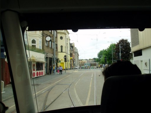Nottingham Express Transit tram TLRS tour at Royal Centre stop