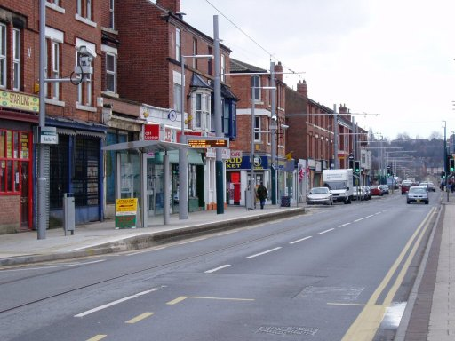 Nottingham Express Transit tram stop at Radford Road