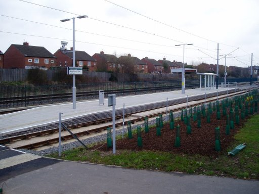 Nottingham Express Transit tram stop at Highbury Vale