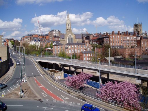 Nottingham Express Transit Line One at Collin Street Viaduct