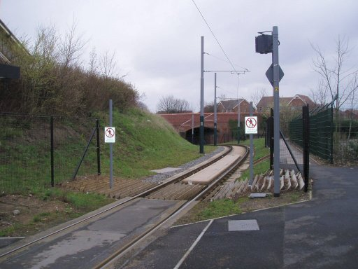 Nottingham Express Transit Line One at near Cinderhill