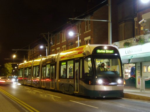 Nottingham Express Transit tram Goose Fair at Radford Road stop