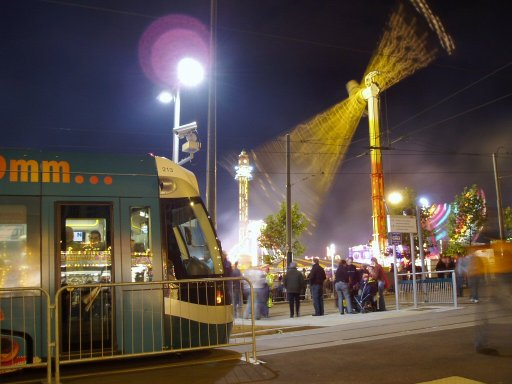 Nottingham Express Transit tram Goose Fair at The Forest stop