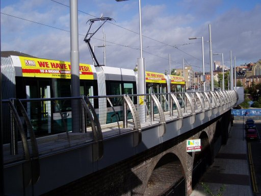 Nottingham Express Transit tram stop at Station Street