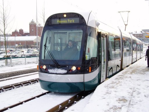 Nottingham Express Transit tram 206 at Wilkinson Street stop