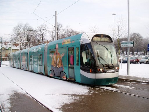 Nottingham Express Transit tram 213 at The Forest stop