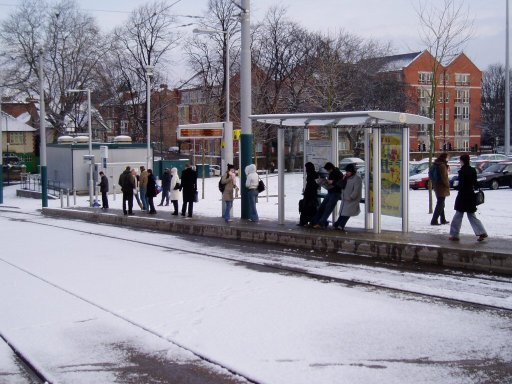 Nottingham Express Transit tram stop at The Forest