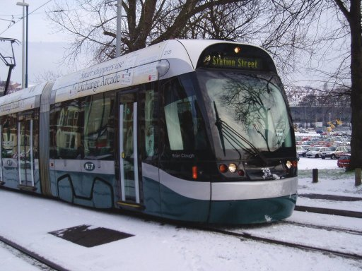 Nottingham Express Transit tram 215 at The Forest