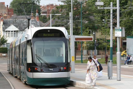 Nottingham Express Transit tram 212 at The Forest stop