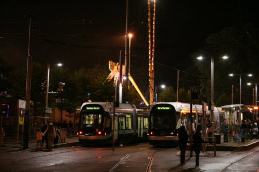 Nottingham Express Transit tram Goose Fair 2005 at The Forest stop