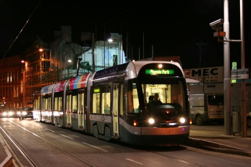 Nottingham Express Transit tram 202 at Lace Market stop