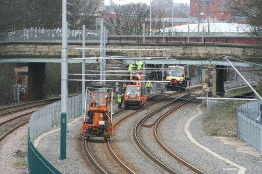 Nottingham Express Transit engineering work