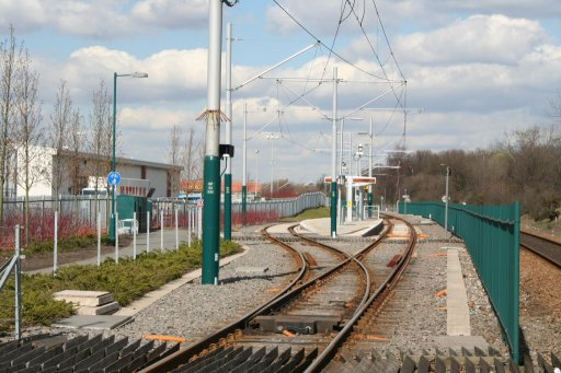 Nottingham Express Transit tram stop at Bulwell Forest