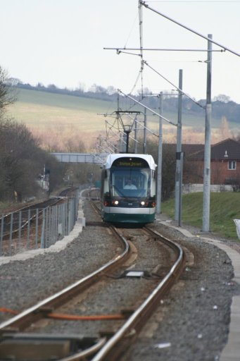 Nottingham Express Transit tram 212 at Hucknall