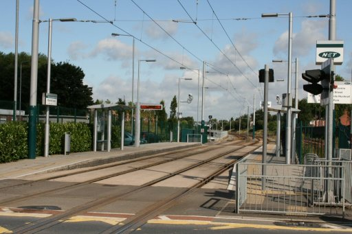 Nottingham Express Transit tram stop at David Lane