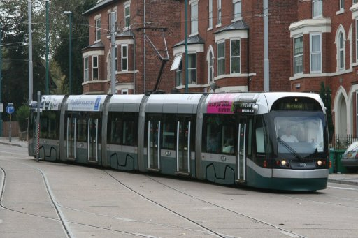 Nottingham Express Transit tram 202 at The Forest stop