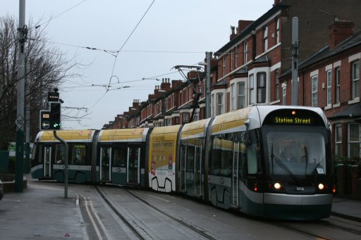 Nottingham Express Transit tram 202 at Noel Street