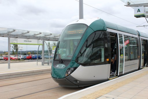 Nottingham Express Transit tram 227 at Clifton South stop