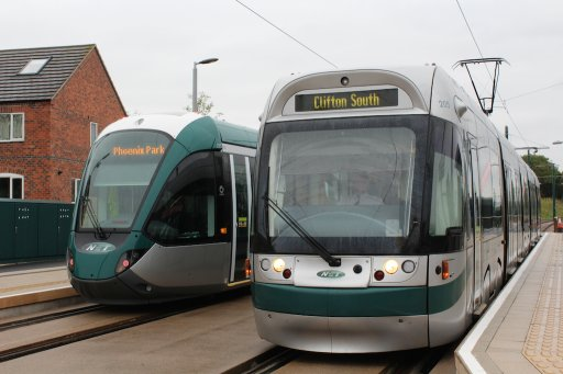 Nottingham Express Transit tram 205 at Wilford Lane stop