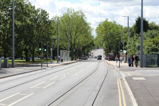 Nottingham Express Transit tram stop at Rivergreen