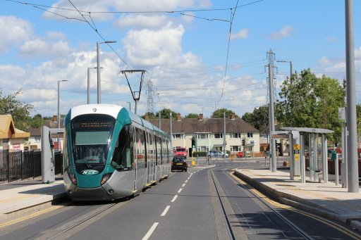 Nottingham Express Transit tram Southchurch Drive North at Southchurch Drive North stop