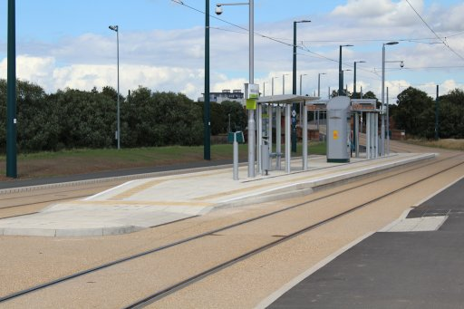 Nottingham Express Transit tram stop at Wilford Village