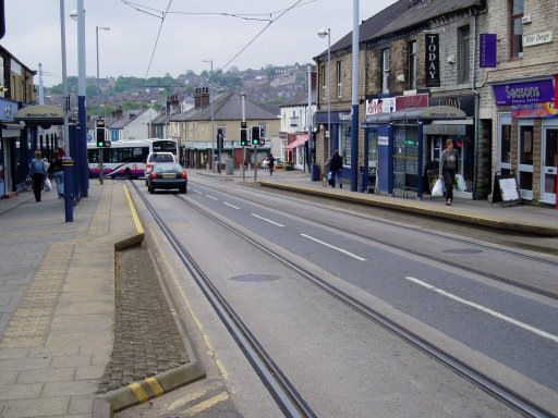 Sheffield Supertram tram stop at Hillsborough Park
