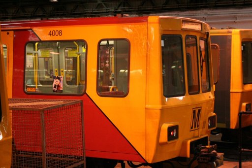 Tyne and Wear Metro unit 4008 at Gosforth depot