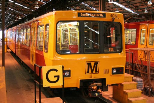 Tyne and Wear Metro unit 4012 at Gosforth depot