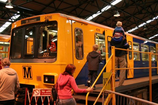 Tyne and Wear Metro unit 4016 at Gosforth depot
