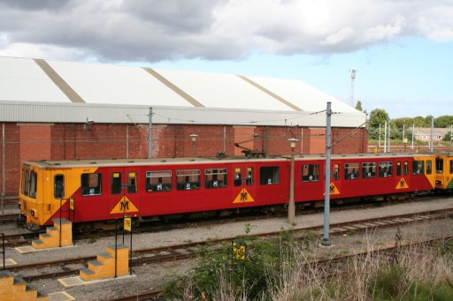 Tyne and Wear Metro unit 4037 at Gosforth depot