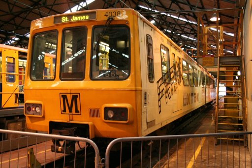 Tyne and Wear Metro unit 4038 at Gosforth depot