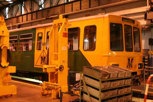 Tyne and Wear Metro unit 4051 at Gosforth depot